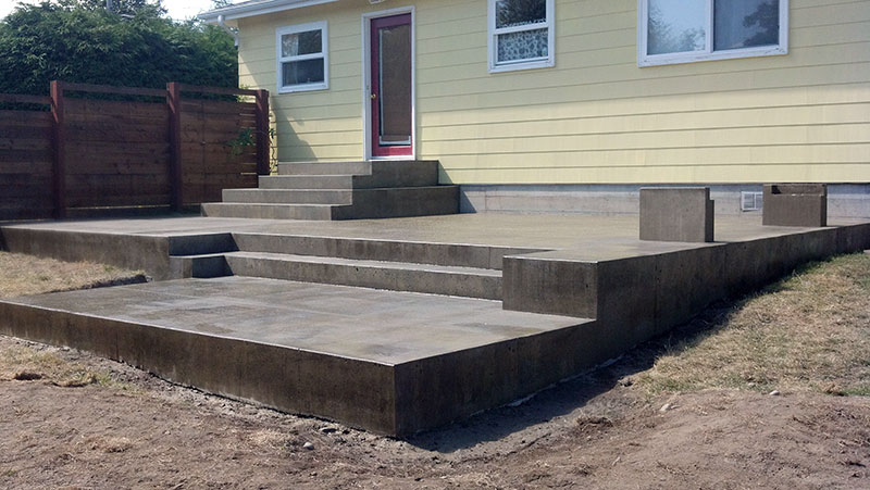 modern concrete patio. Multi-Level, Modern Patio Concrete A