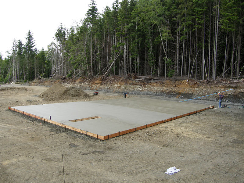 Mono slab garage foundation scc for House slab foundation